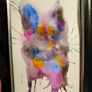 Spore Print Watercolor Painting